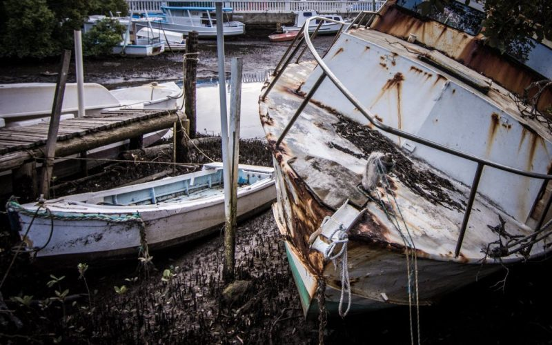 Wynnum Creek, Abandoned Boats